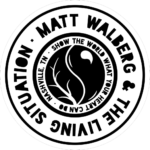 Matt Walberg & The Living Situation Circle Logo - Reversed